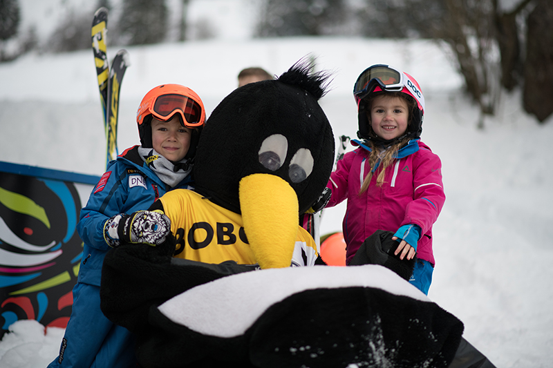 Every winter season BOBO the penguin visits our SKISCHOOL PRO in Werfenweng