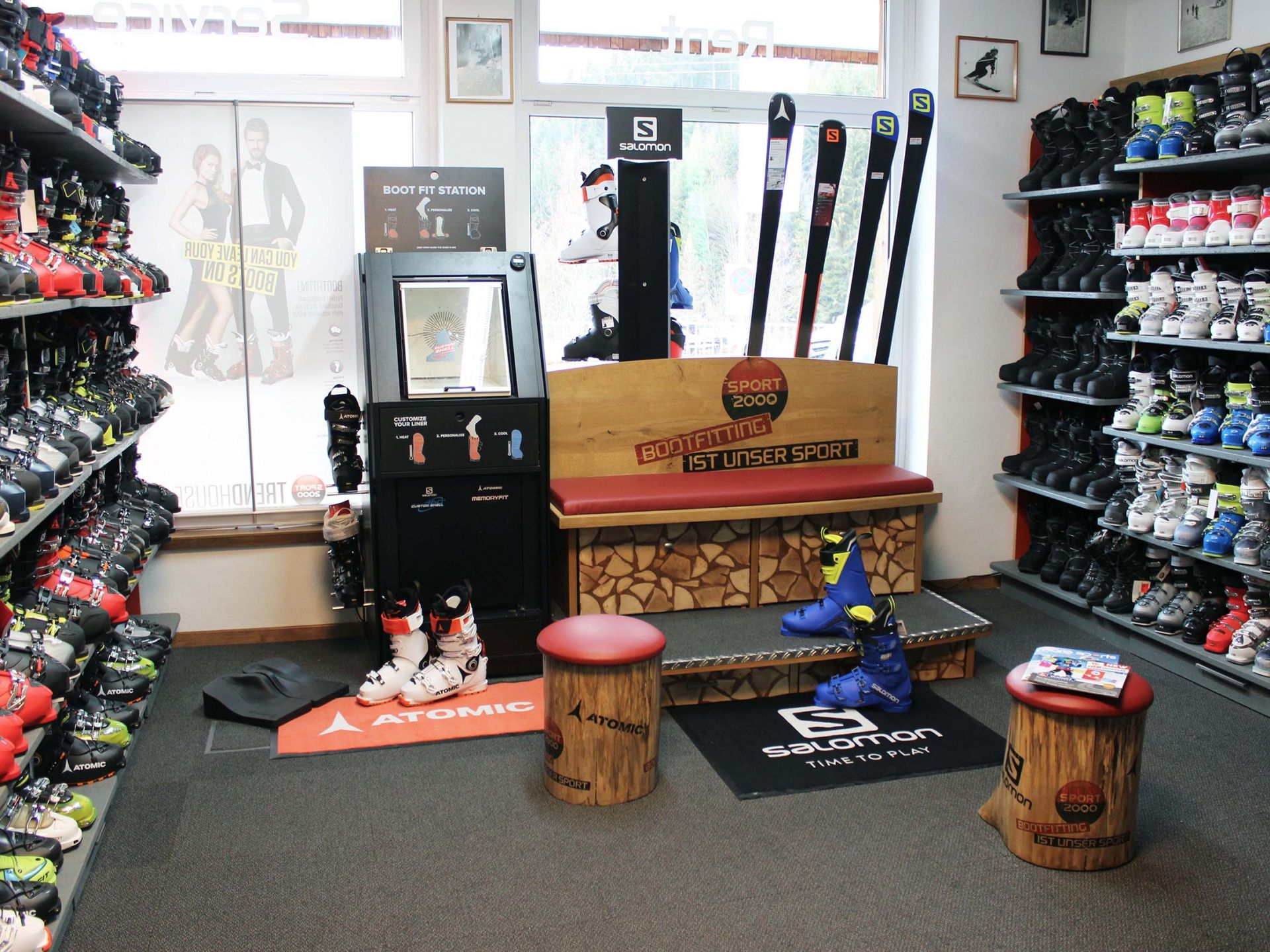 Get your customized boots in our bootfitting area