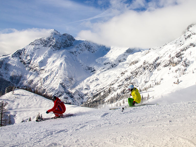 All practice slopes and lifts in a central location