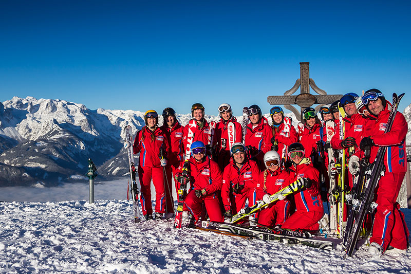 The ski school team